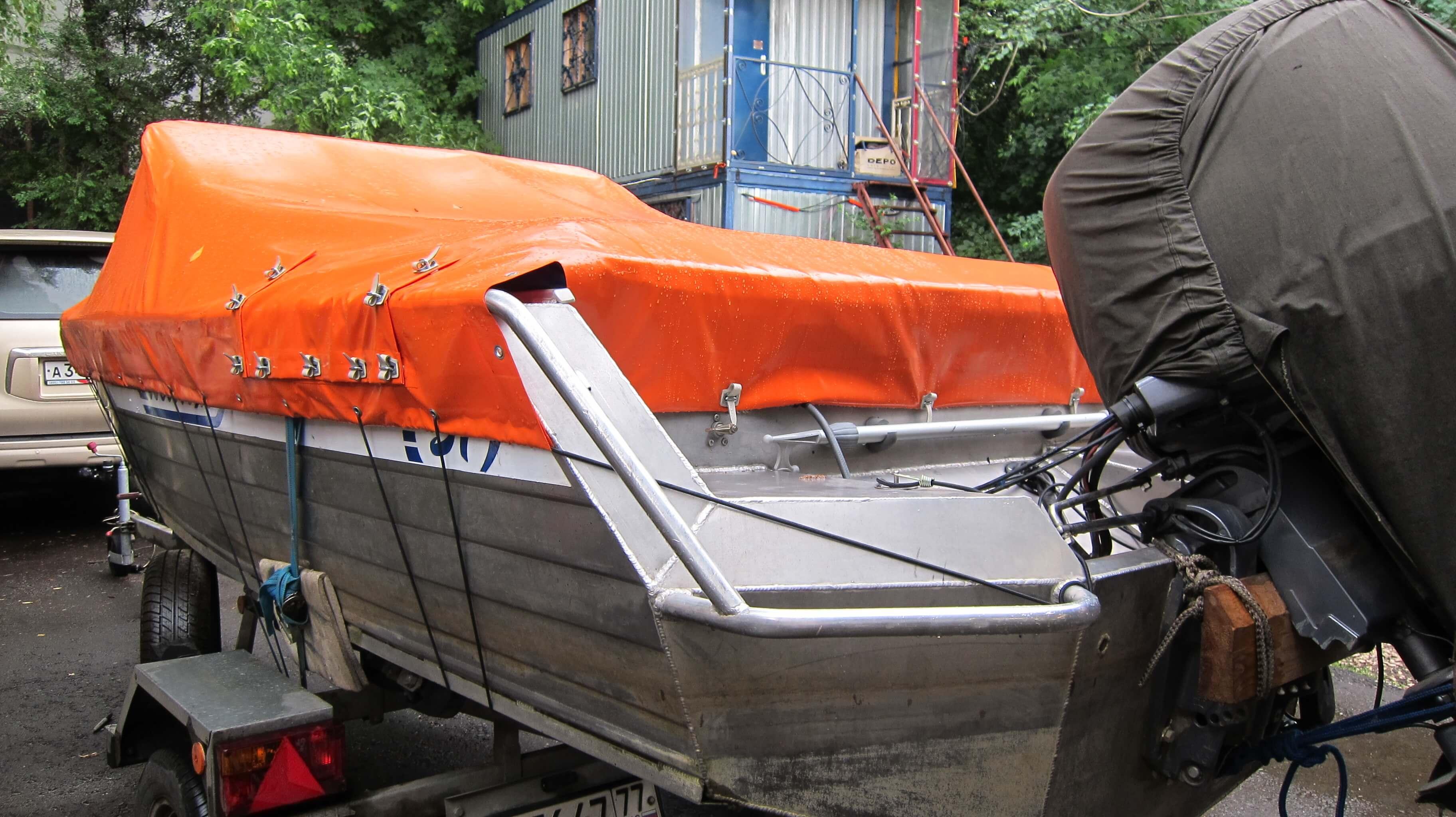 Тент на алюминиевую лодку своими руками 205